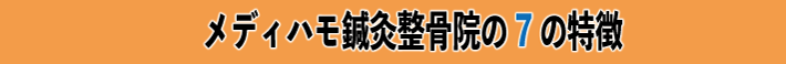 メディハモ鍼灸整骨院の7の特徴